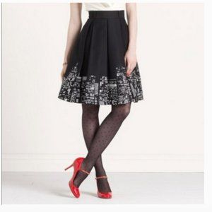 Kate Spade black Lilith City Lights Iconic Skirt size 8 nwot